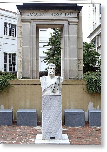 Hippocrates Statue - Richmond Virginia Greeting Card