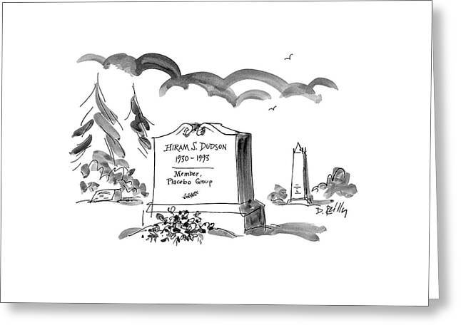 Hiram S. Dudson Greeting Card by Donald Reilly