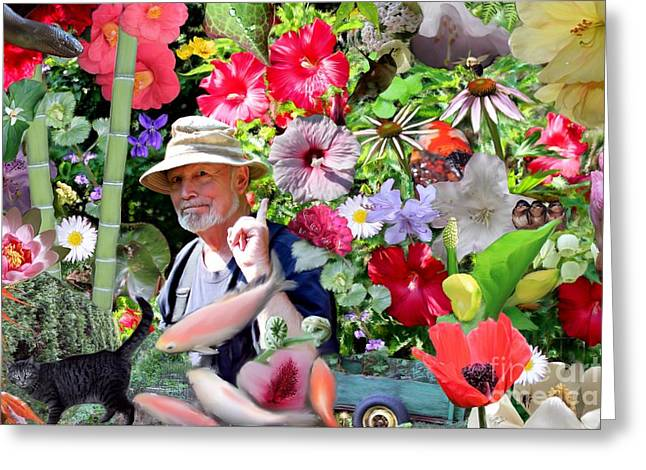 His Garden Greeting Card by Erica Hanel