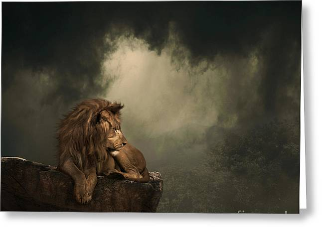 His Kingdom Greeting Card by Lynn Jackson