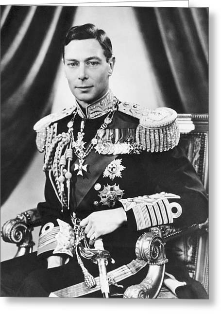His Majesty King George Vi Greeting Card by Underwood Archives