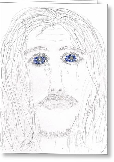 His Tears Greeting Card by Shannon Redwine