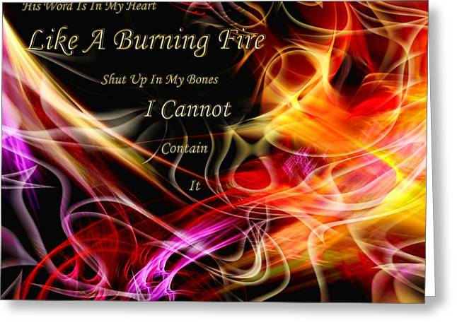 Greeting Card featuring the digital art His Word In My Heart by Margie Chapman