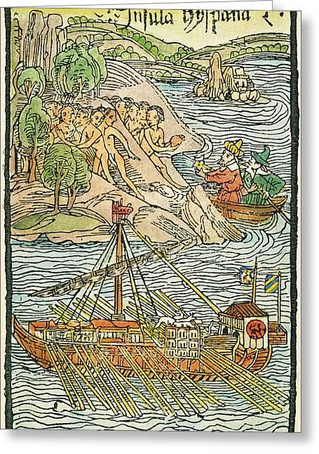 Hispaniola Trading, 1493 Greeting Card