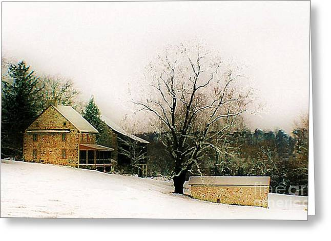 Greeting Card featuring the photograph Historic 1700's Farmhouse by Polly Peacock