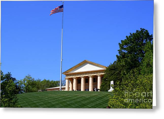 Historic Arlington House Greeting Card by Patti Whitten