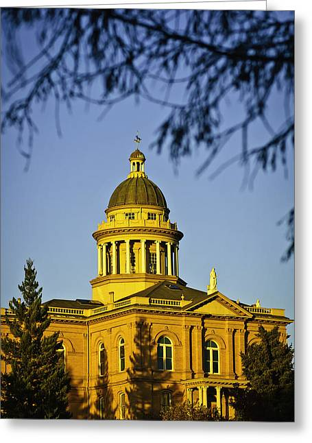 Greeting Card featuring the photograph Historic Auburn Courthouse 5 by Sherri Meyer