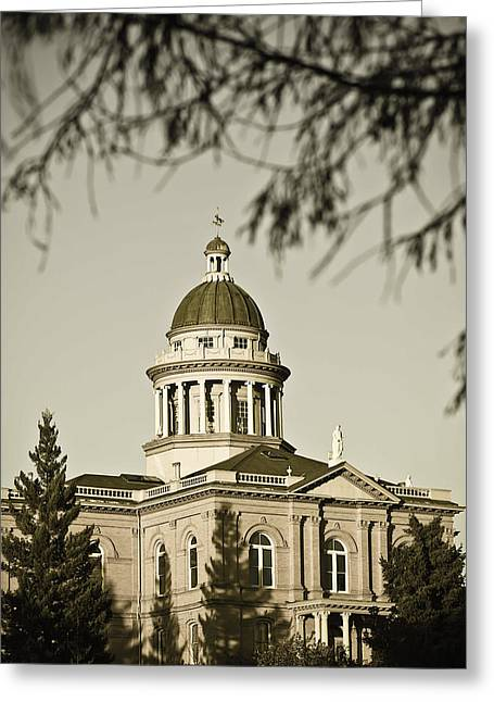 Greeting Card featuring the photograph Historic Auburn Courthouse 6 by Sherri Meyer