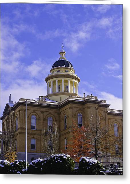 Greeting Card featuring the photograph Historic Auburn Courthouse 7 by Sherri Meyer
