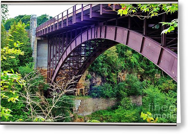 Historic Ausable Chasm Bridge Greeting Card by Patti Whitten