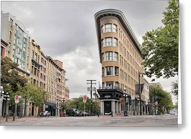 Historic Buildings In Gastown Vancouver Bc Greeting Card by David Gn