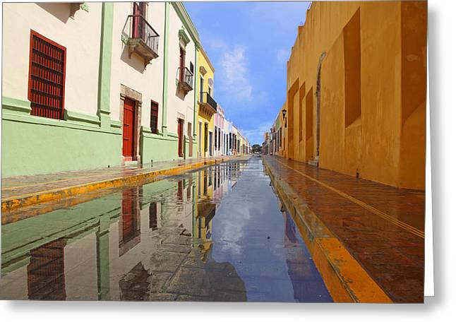 Historic Campeche Mexico  Greeting Card