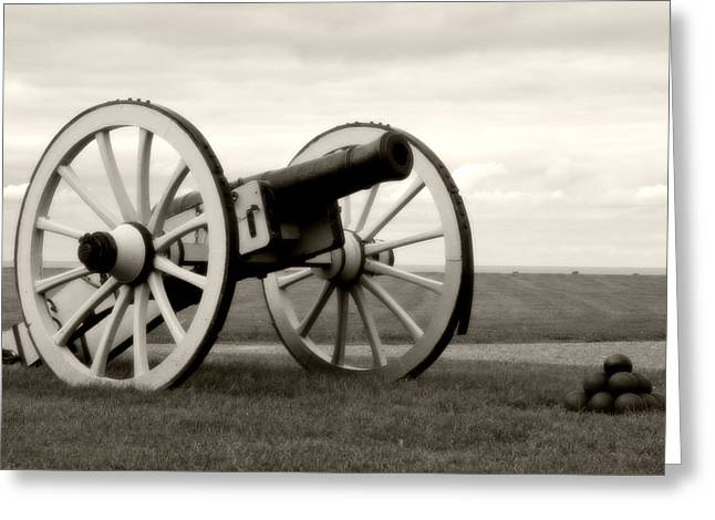 Historic Cannon At Old Fort Niagara Greeting Card by Heather Allen