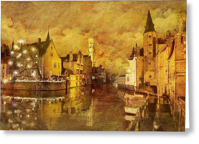 Historic Centre Of Brugge Greeting Card by Catf