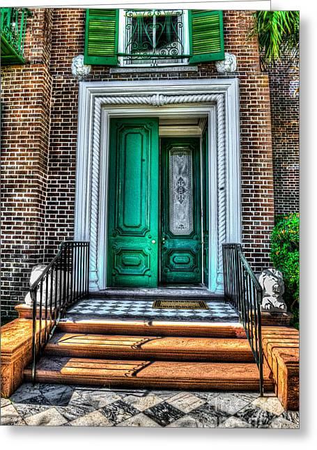 Historic Charleston Sc Door Greeting Card
