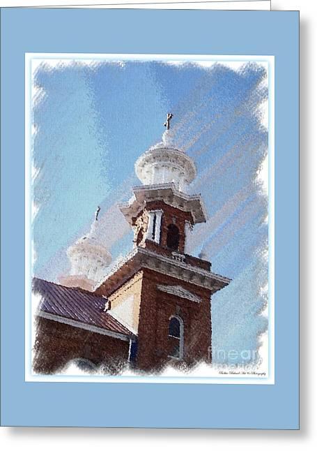 Historic Church Steeples Greeting Card by Bobbee Rickard