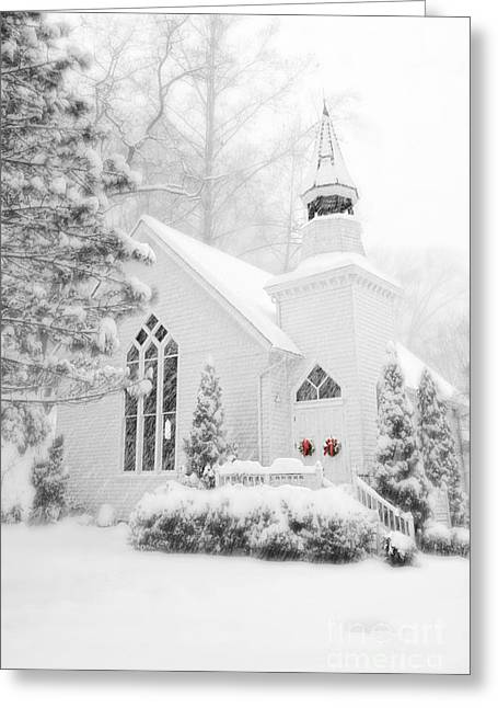 Greeting Card featuring the photograph White Christmas In Oella Maryland Usa by Vizual Studio