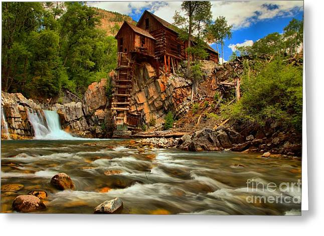 Historic Colorado Landscape Greeting Card by Adam Jewell