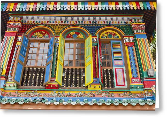 Historic Colorful Peranakan House Greeting Card by David Gn
