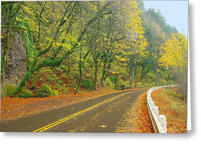 Historic Columbia Gorge Highway Greeting Card