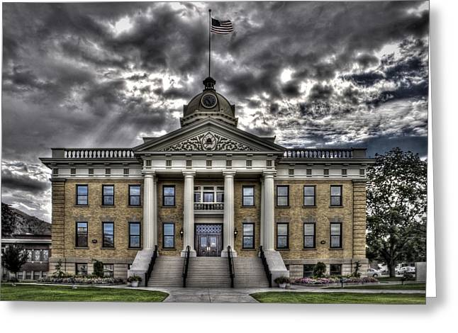 Historic Courthouse Greeting Card by Jim Speth