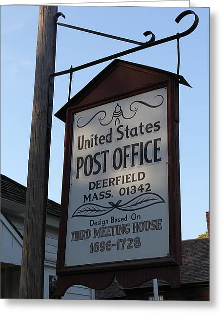 Historic Deerfield Post Office Greeting Card by DustyFootPhotography