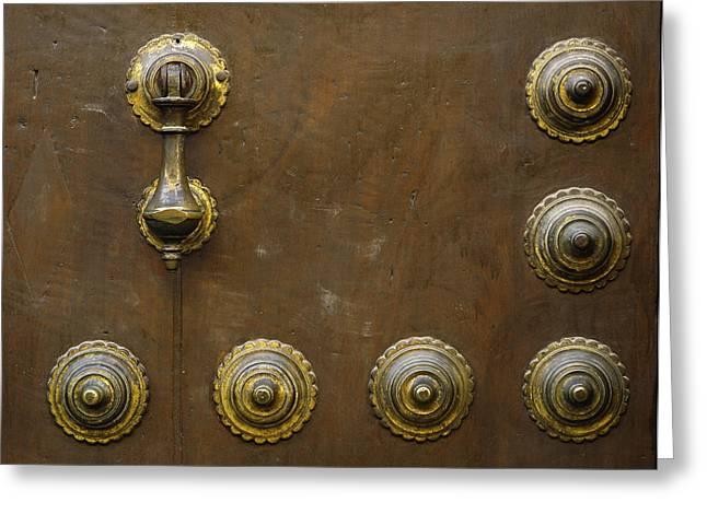 Historic Door In Granada Greeting Card