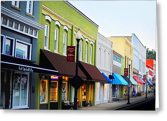 Historic Downtown Apex Greeting Card