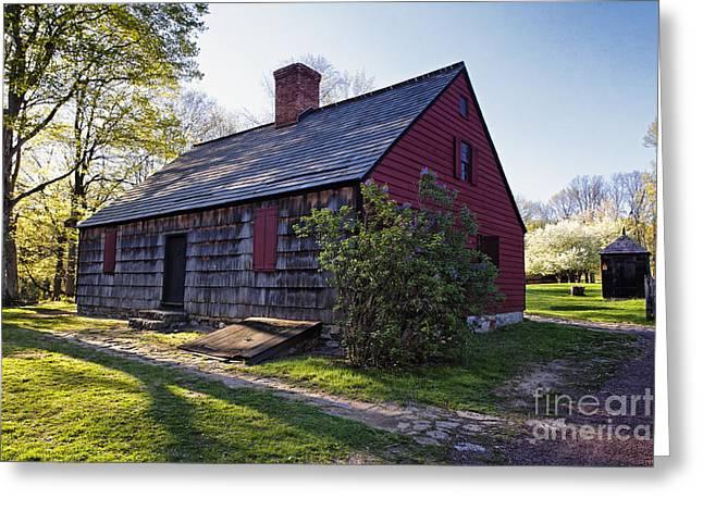 Historic Farmhouse In Jockey Hollow Greeting Card