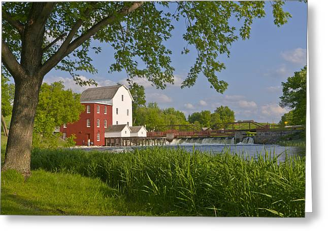 Historic Flour Mill By A River Greeting Card