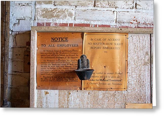 Historic Flour Mill Notice Greeting Card by Jim West