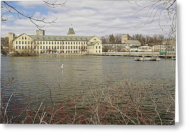 Historic Fox River Mills Greeting Card by Carol Toepke