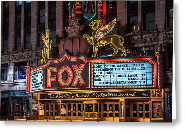 Historic Fox Theatre In Detroit Michigan Greeting Card