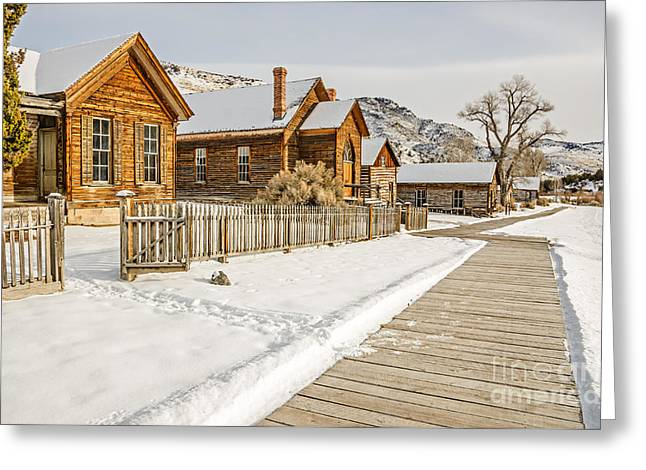 Historic Ghost Town Greeting Card by Sue Smith