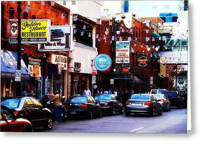 Historic Greek Town Detroit Michigan Greeting Card