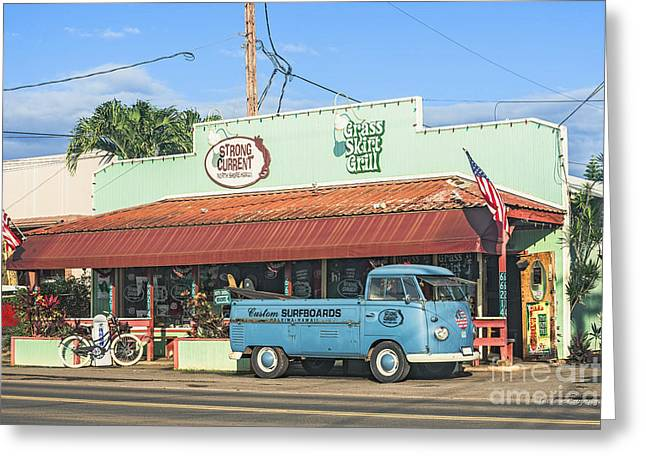 Historic Haleiwa Surf Town On The North Shore Of Oahu Greeting Card