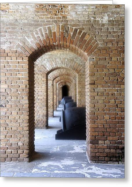 Greeting Card featuring the photograph Historic Hallway by Laurie Perry