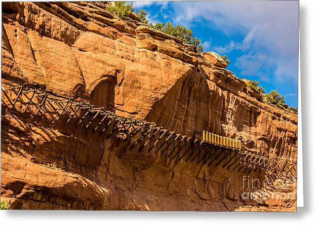 Historic Hanging Flume - Dolores River - Colorado Greeting Card