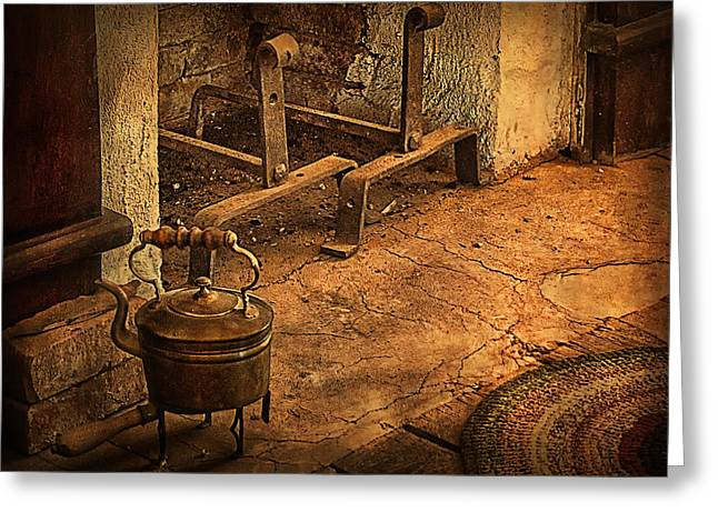 Historic Hearth Greeting Card by Priscilla Burgers