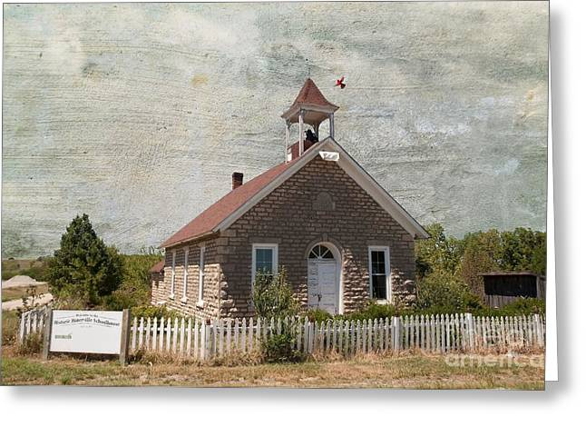 Historic Hinerville School  House  Greeting Card by Liane Wright