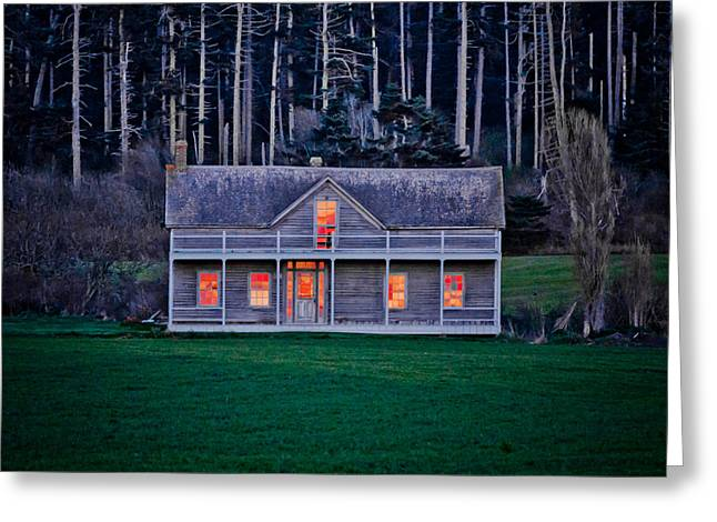 Historic Home At Sunset Greeting Card by Winston Likert