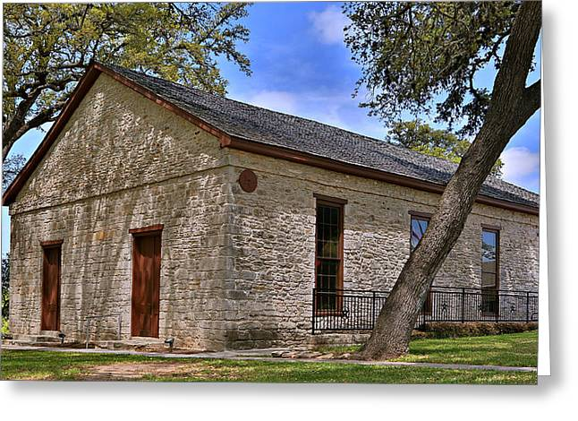 Historic Independence Baptist Church -- Texas Greeting Card by Stephen Stookey