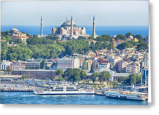Historic Istanbul Greeting Card by Stephen Stookey