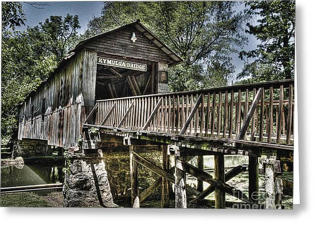 Greeting Card featuring the photograph Historic Kymulga Covered Bridge by Ken Johnson