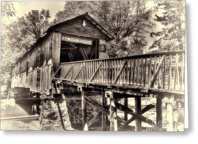 Historic Kymulga Covered Bridge Toned Greeting Card
