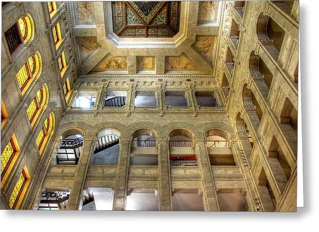 Historic Minneapolis City Hall And Courthouse Greeting Card by Wayne Moran
