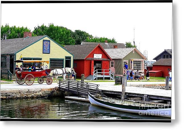 Historic Mystic Seaport Greeting Card by Dora Sofia Caputo Photographic Art and Design