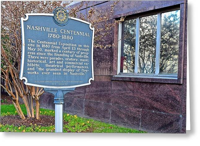 Historic Nashville Landmark Greeting Card by Frozen in Time Fine Art Photography