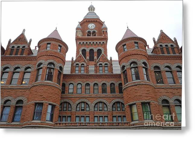 Greeting Card featuring the photograph Historic Old Red Courthouse Dallas #1 by Robert ONeil
