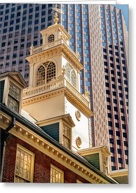 Historic Old State House Of Boston Greeting Card by Thomas Schoeller
